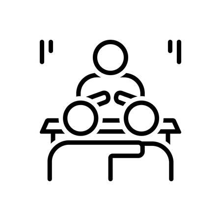 Icon for convince,explain Stock Illustratie