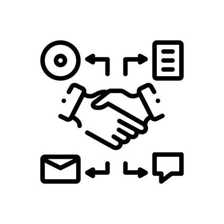 Icon for comarketing,handshake