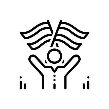 Icon for compatriot,indigenous Ilustração