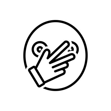 Icon for connivance,hand Illustration