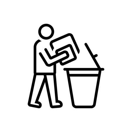 Icon for declutter,dustbin