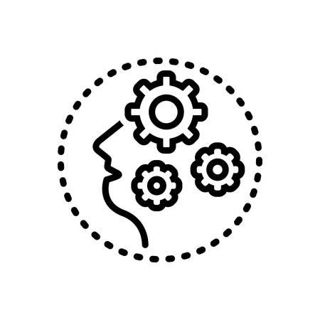 Icon for dementia,craziness Illustration