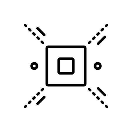 Icon for delimit,delimitate Illustration