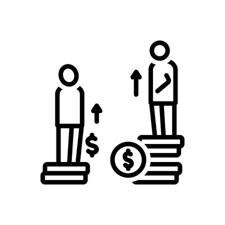 Icon for disparity,difference Иллюстрация