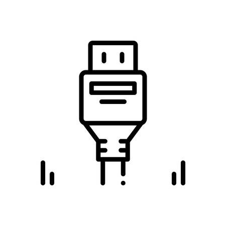 Icon for displayport,connector Stockfoto - 129209848