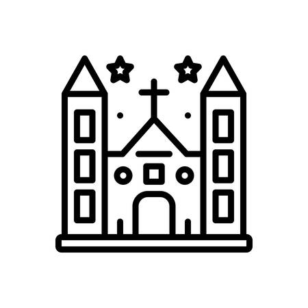 Icon for diocese,church  イラスト・ベクター素材