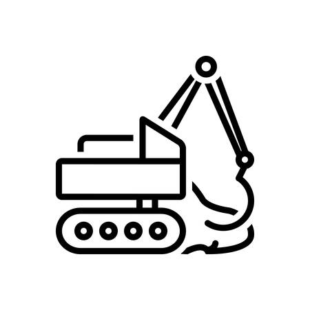 Icon for earthmoving,excavator