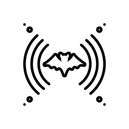Icon for echolocation,bat Illustration