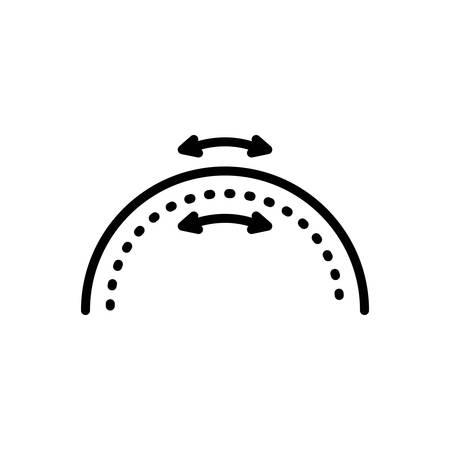 Icon for elasticity,flexibility