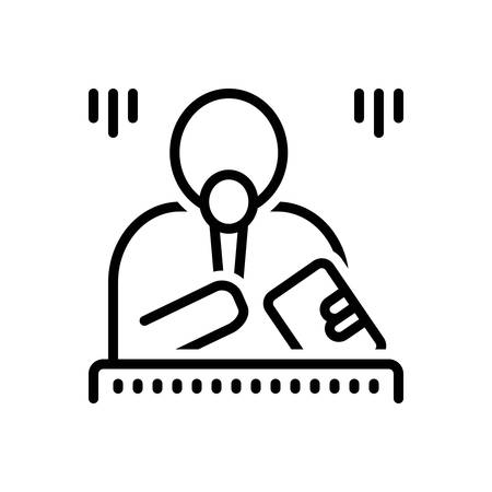 Icon for emcee,master Banque d'images - 129465681