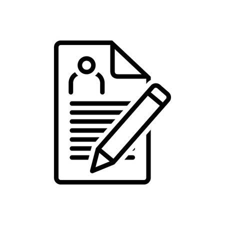 Icon for enrollment,nomination Ilustrace