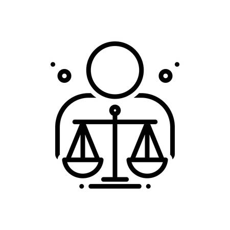 Icon for ethical,moral Vector Illustration