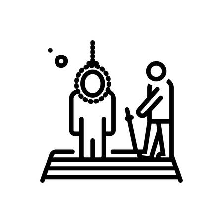 Icon for executing,death