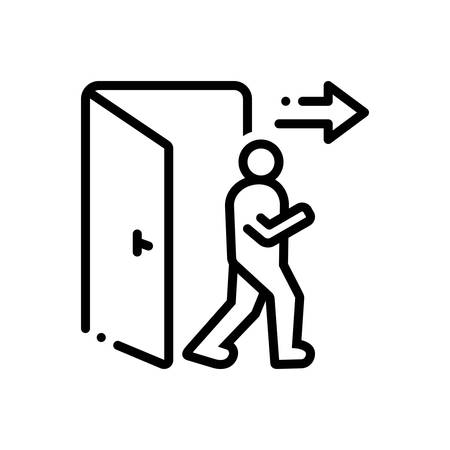 Icon for exit,egress Vectores