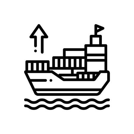 Icon for exporter,ship Zdjęcie Seryjne - 129466548