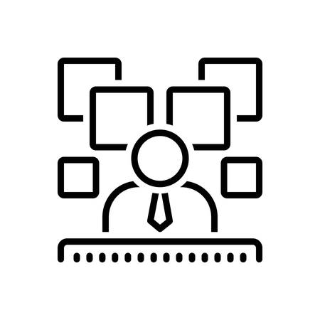 Icon for expositor,descriptor Illustration