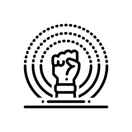 Icon for ferguson,revolution  イラスト・ベクター素材