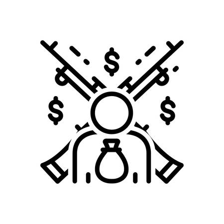 Icon for feudalism,feudality  イラスト・ベクター素材