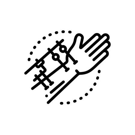 Icon for fixation,joints Ilustração Vetorial