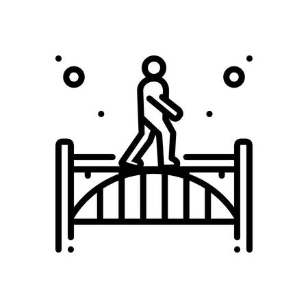 Icon for footbridge,walking