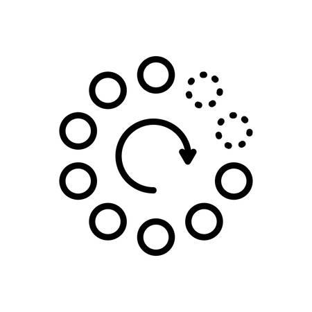 Icon for gradually,buffering