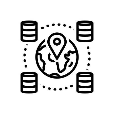 Icon for geospatial,locations 向量圖像