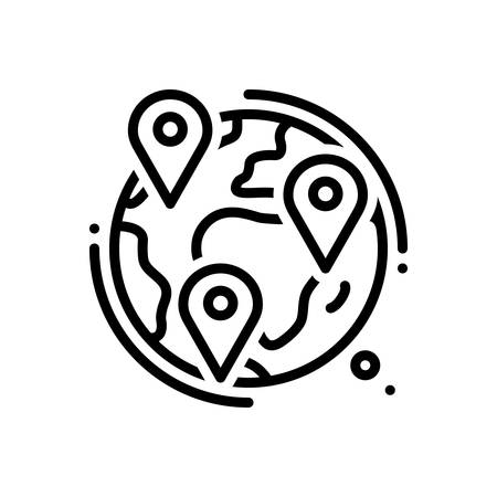 Icon for geotracking,locations