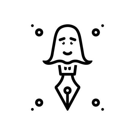 Icon for ghostwriter,storyteller Ilustrace