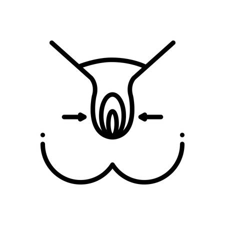 Icon for hymen,sexual Illustration