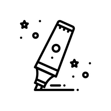 Icon for highlighter,marker Illustration