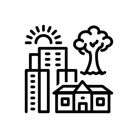 Icon for hometown,city