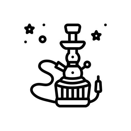Icon for hookah,smoke