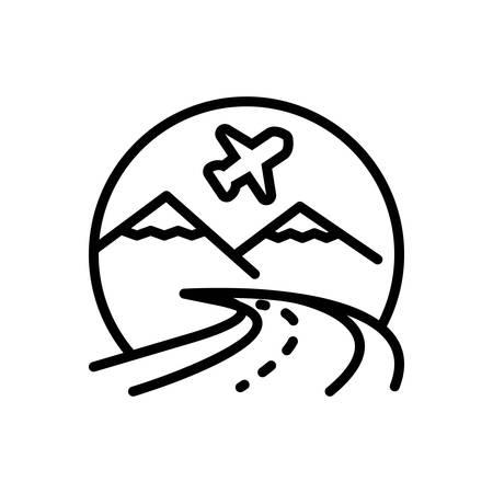 Icon for tourism,touring