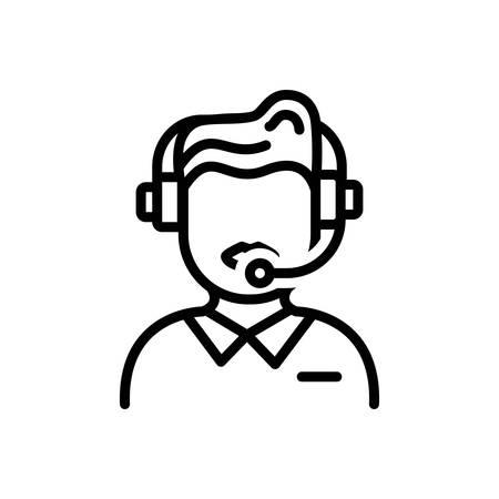 Icon for customer service,consultant Archivio Fotografico - 129468272
