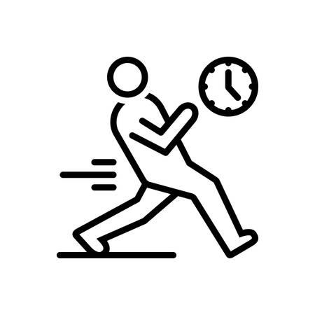 Icon for immediate,immediately Illustration