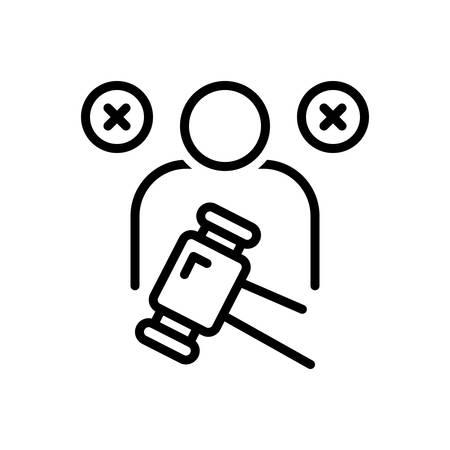 Icon for impeachment,blame Illusztráció