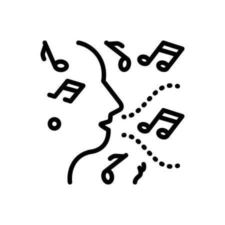 Icon for improvisation,music Illusztráció
