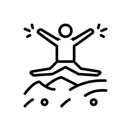 Icon for impulsive,impetuous Illustration