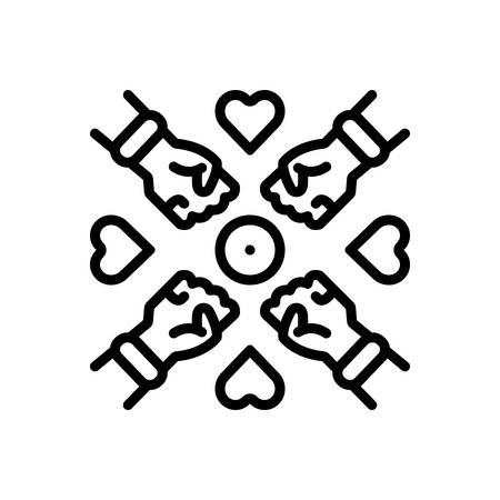 Icon for inclusion,tolerance
