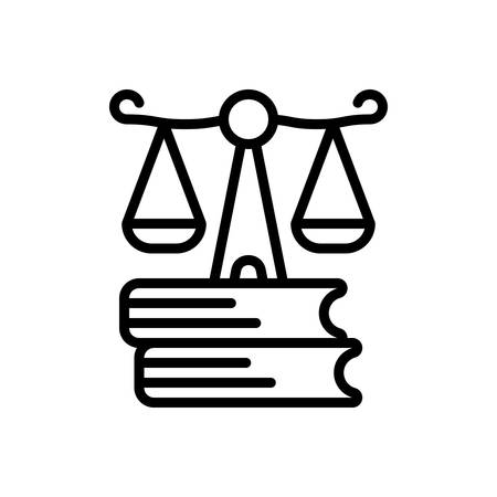 Icon for justice,syllogism Ilustrace