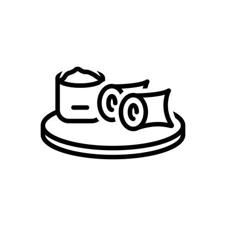 Icon for breakfast,brekker Stock Illustratie