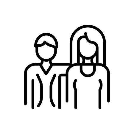 Icon for couple,duet Иллюстрация