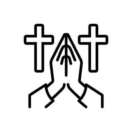 Icon for invocation,salutation Illustration