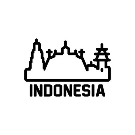 Icon for indonesia,tourism 向量圖像