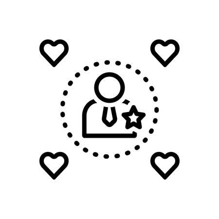 Icon for influencers,impressive Ilustração