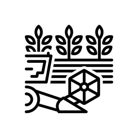 Icon for ingathering,felling Ilustração