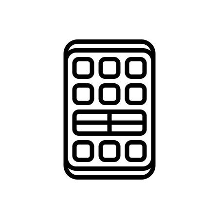 Icon for remote,technology Иллюстрация