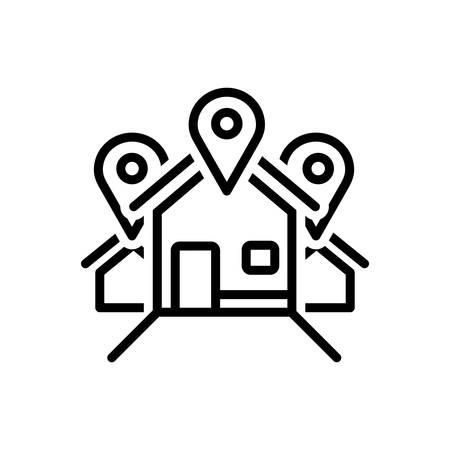 Icon for address,location,locale Ilustrace