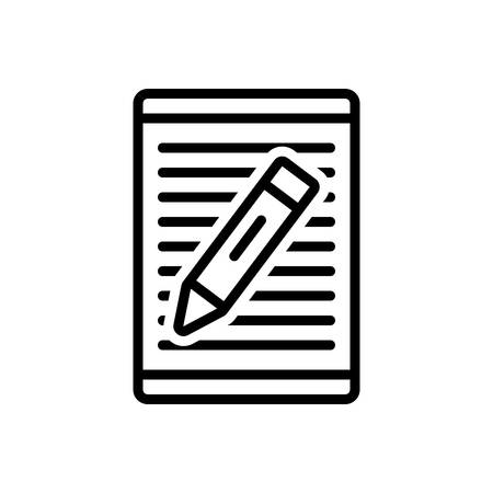 Icon for article,writing