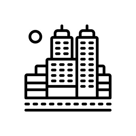 Icon for city,town